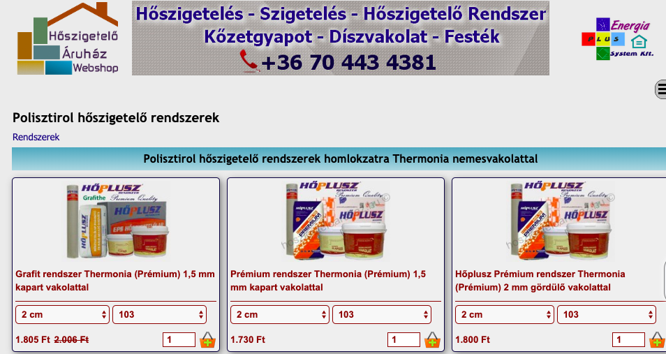 polisztirol hőszigetelő rendszerek
